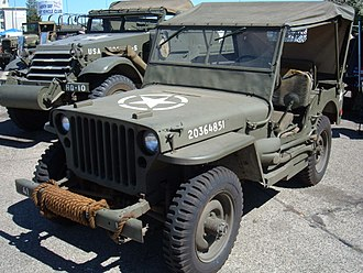 Military light utility vehicle - A World War II Willys MB Jeep, used by the U.S. Army
