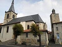 Craponne-sur-Arzon Église-donjon.JPG