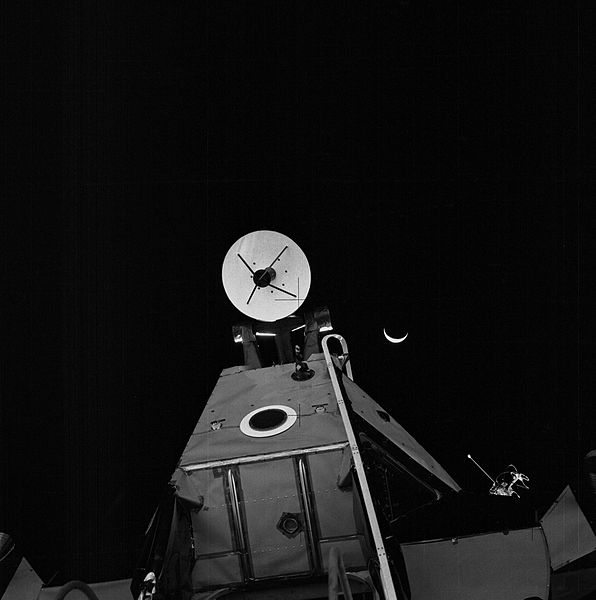 File:Crescent Earth and Venus over the Apollo 14 LM.jpg
