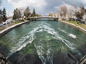 Black Drin - Black Drim flowing out of Lake Ohrid.