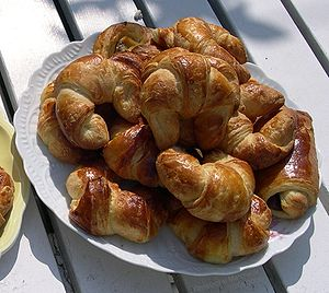 Bizcocho - Croissants or Croasanes (as they are known in Uruguay.)