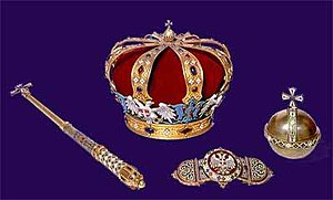 Regalia of Serbia - Serbian Crown Jewels, Karađorđević Crown, Royal orb and sceptre, and Royal Mantle buckle