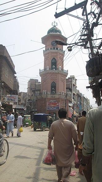 Cunningham Clock Tower - Image: Cunningham clock tower Peshawar