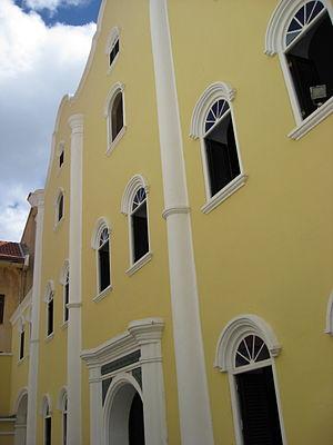 Curaçao synagogue - Mikvé Israel-Emanuel Synagogue, Willemstad, Curaçao, western façade
