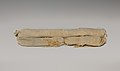 Cylindrical bag of sawdust from Tutankhamun's Embalming Cache MET DP225334.jpg