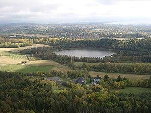 Kolsås - Dælivannet seen from Kolsås