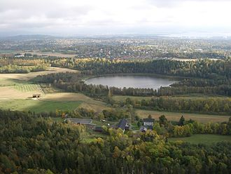 Kolsås - Dælivannet seen from Kolsås