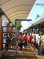 DART trains transport participants in the 2011 American Heart Walk in Dallas.JPG