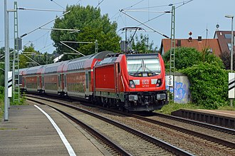 DB Regio - Regional train of the DB from Heidelberg to Stuttgart