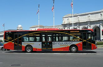 DC Circulator - A DC Circulator bus at Union Station in August 2006.