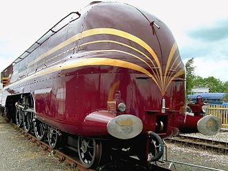 LMS Coronation Class - Streamlined version NOT as originally built, as preserved.