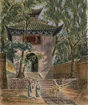 Mount Putuo - Building on Mount Putuo, 1899