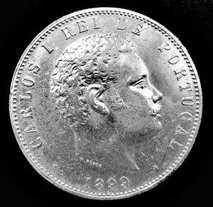 Coin - 1.000 reis - 1899 - Silver - King Carlo...