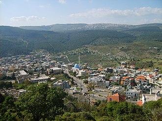 Daburiyya - Image: Daburiyya Mount Tabor 200704