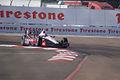 Dallara-Chevrolet DW12 Penske-IZOD Racing Ryan Briscoe Morning Practice Into Turn1 SPGP 24March2012 (14696523991).jpg