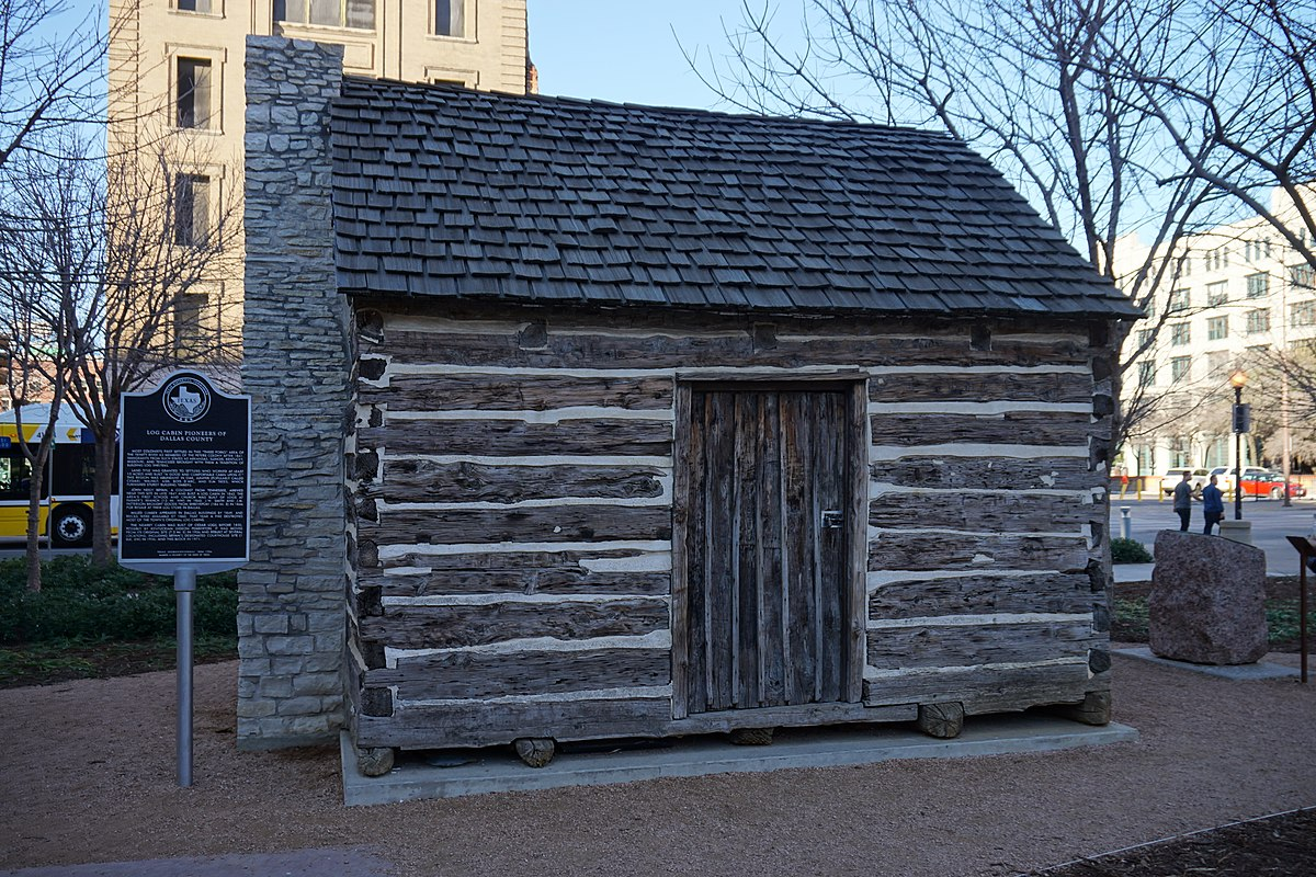 Dallas January 2016 06 (John Neely Bryan Cabin replica).jpg