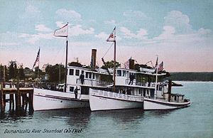 Sabino (steamer) - Damariscotta Steamboat Company fleet in 1906