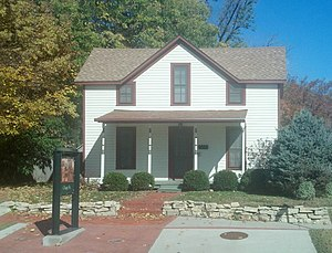 Damon Runyon - Boyhood home of Damon Runyon in Manhattan, Kansas.