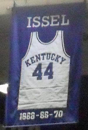 Dan Issel - A jersey honoring Issel hangs in Rupp Arena