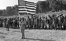 USA scouts at the opening of the international Jamboree games of the worldwide Scouts organization, 1969.