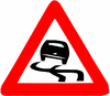 Danger of slipping (Israel road sign).png