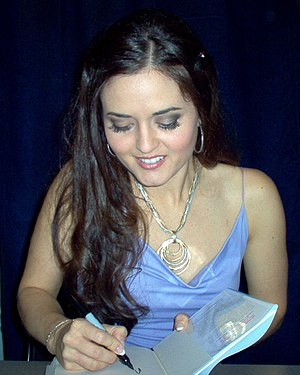 Danica McKellar - At a book signing, October 2007