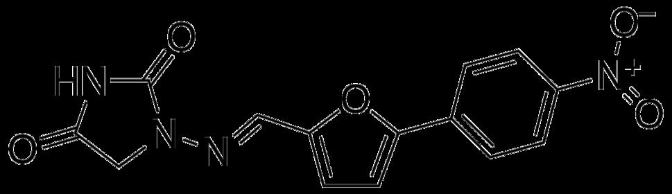 Structural formula of dantrolene