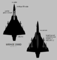Dassault Mirage 2000D silhouette showing external stores configuration.png