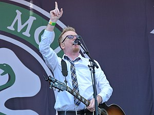 Flogging Molly - Dave King performing live in Budapest - 2011