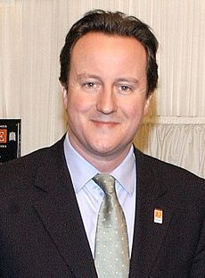David Cameron, Conservative Party leader and Prime Minister. Image: Land of Hope and Glory.