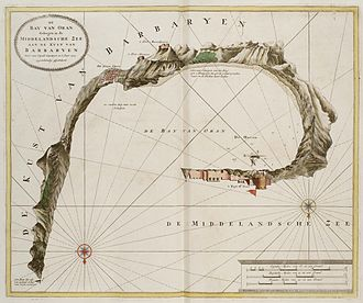Sieges of Oran and Mers El Kébir - Map of the Bay of Oran in 1725, by Johannes van Keulen.