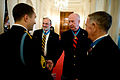 Defense.gov News Photo 101116-A-0193C-005 - Staff Sgt. Salvatore Giunta left meets with three Medal of Honor recipients before he is awarded the Medal of Honor in the White House in.jpg