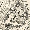 Dehnsches Schlösschen und Fürstlicher Lustgarten 1829.jpg