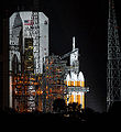 Delta IV-H with EFT-1 at CCAFS-37B awaiting launch (201412050002HQ).jpg