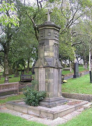 Denshaw - Denshaw's war memorial is situated in the village churchyard.