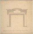 Design for a Chimneypiece with a Frieze with Floral Decoration and Capitals Decorated with Animals MET DP800986.jpg