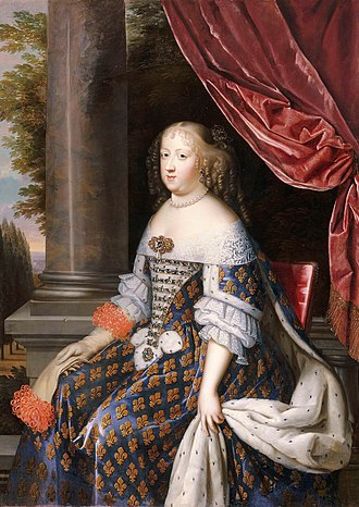 Maria Theresa of Spain - Portrait by Jean Nocret