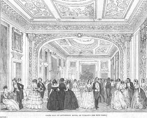 Devonshire House - A ball at Devonshire House in 1850, from the Illustrated London News