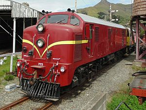 New Zealand DG and DH class locomotive - Dg 772 on the Ferrymead Railway.