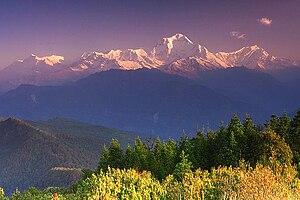 Dhaulagiri - Dhaulagiri range looking west from Poon Hill