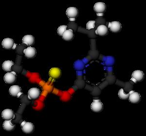 Diazinon - Image: Diazinon Molecule 3D balls by AHRLS