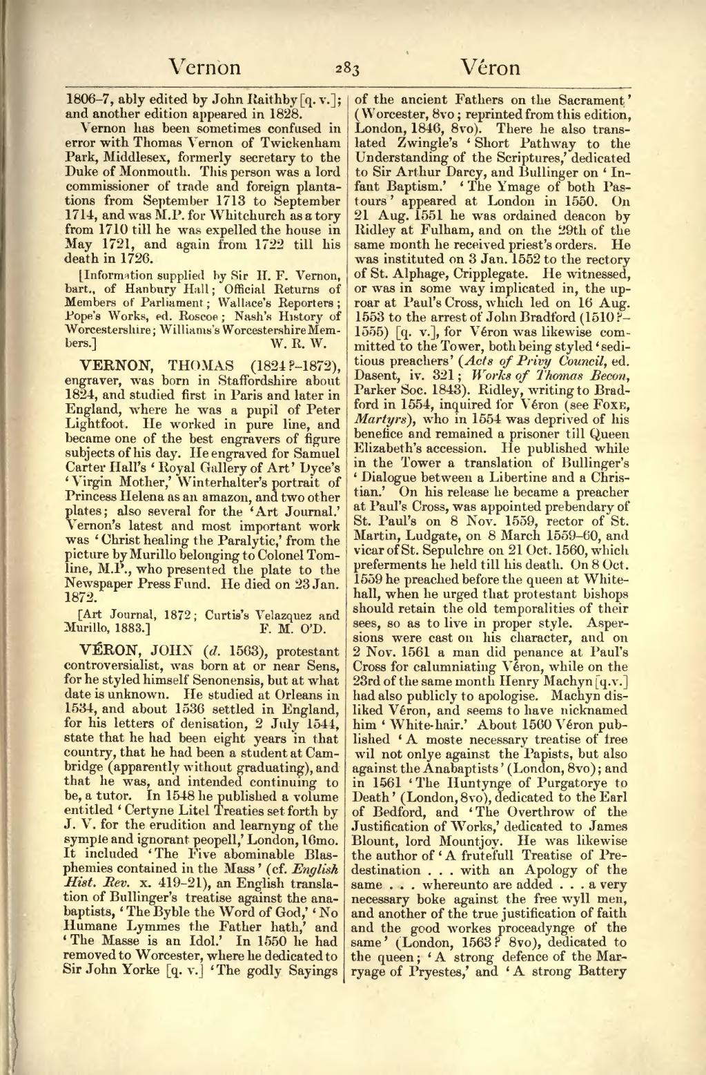 Page:Dictionary of National Biography volume 58.djvu/291 ... Predestination