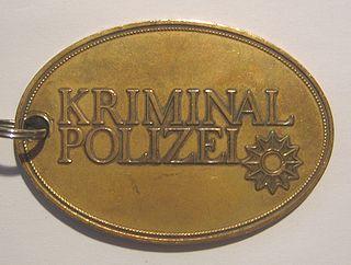 <i>Kriminalpolizei</i> German criminal police organization