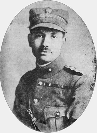 "Dimitrios Psarros, military leader of National and Social Liberation, victim of the ""first phase"" of the civil war, during the Resistance. Dimitrios Psarros.jpg"