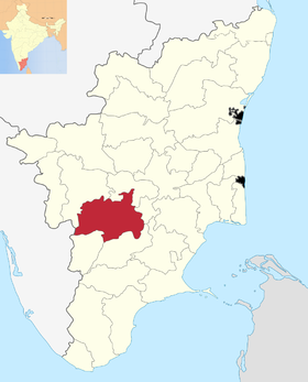 Localisation de District de Dindigul