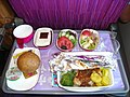 Dinner-Thai Airways intercontinental flight 2007.JPG