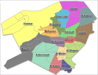 Districts of Syria - Image: Districts of damascus