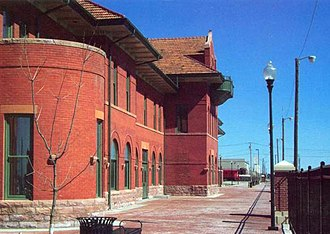 Dodge City, Kansas - The Dodge City Amtrak station (2008)