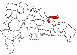 Location of Península de Samaná