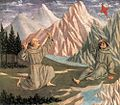 Domenico Veneziano - The Stigmatization of St Francis (predella 1) - WGA06432.jpg